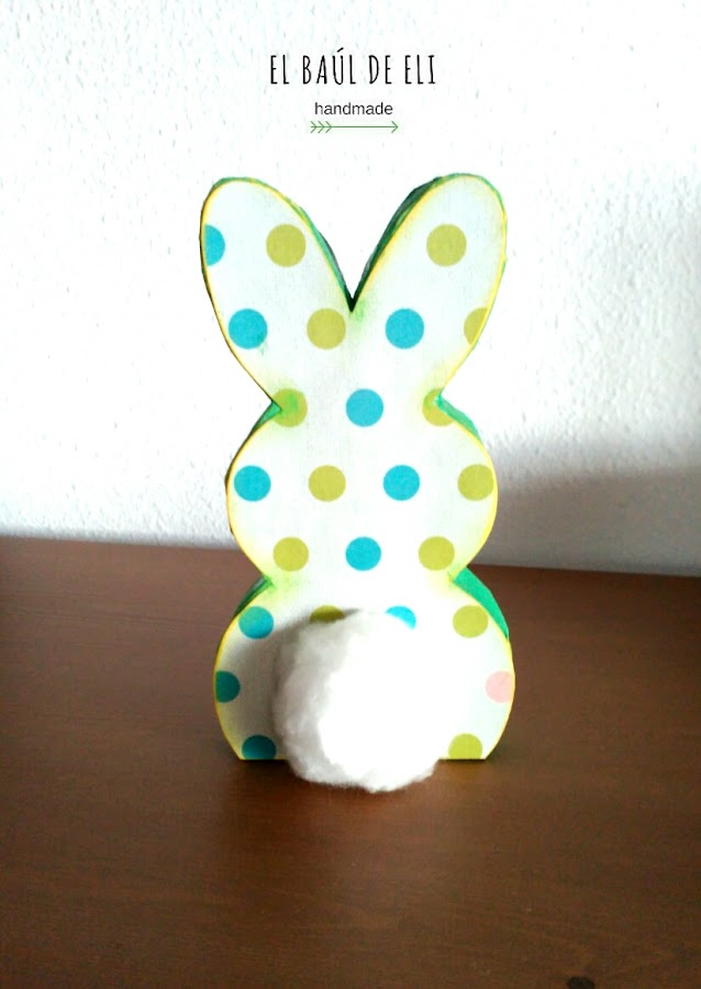 conejo de pascua, cartón, diy