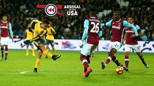 Alexis Sanchez Scores Against West Ham United