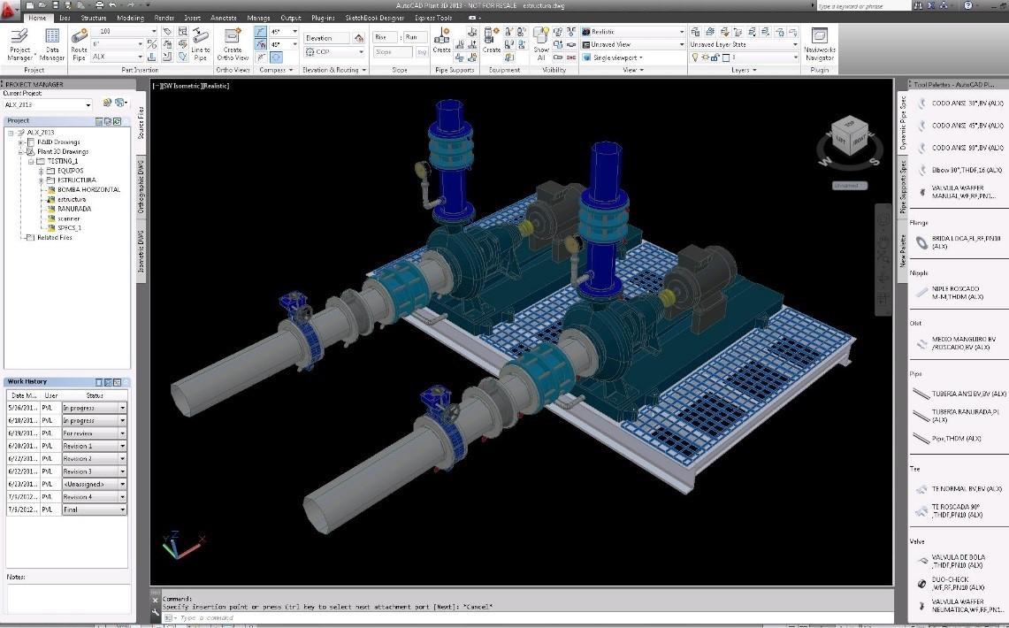 crear equipos para plantas industriales