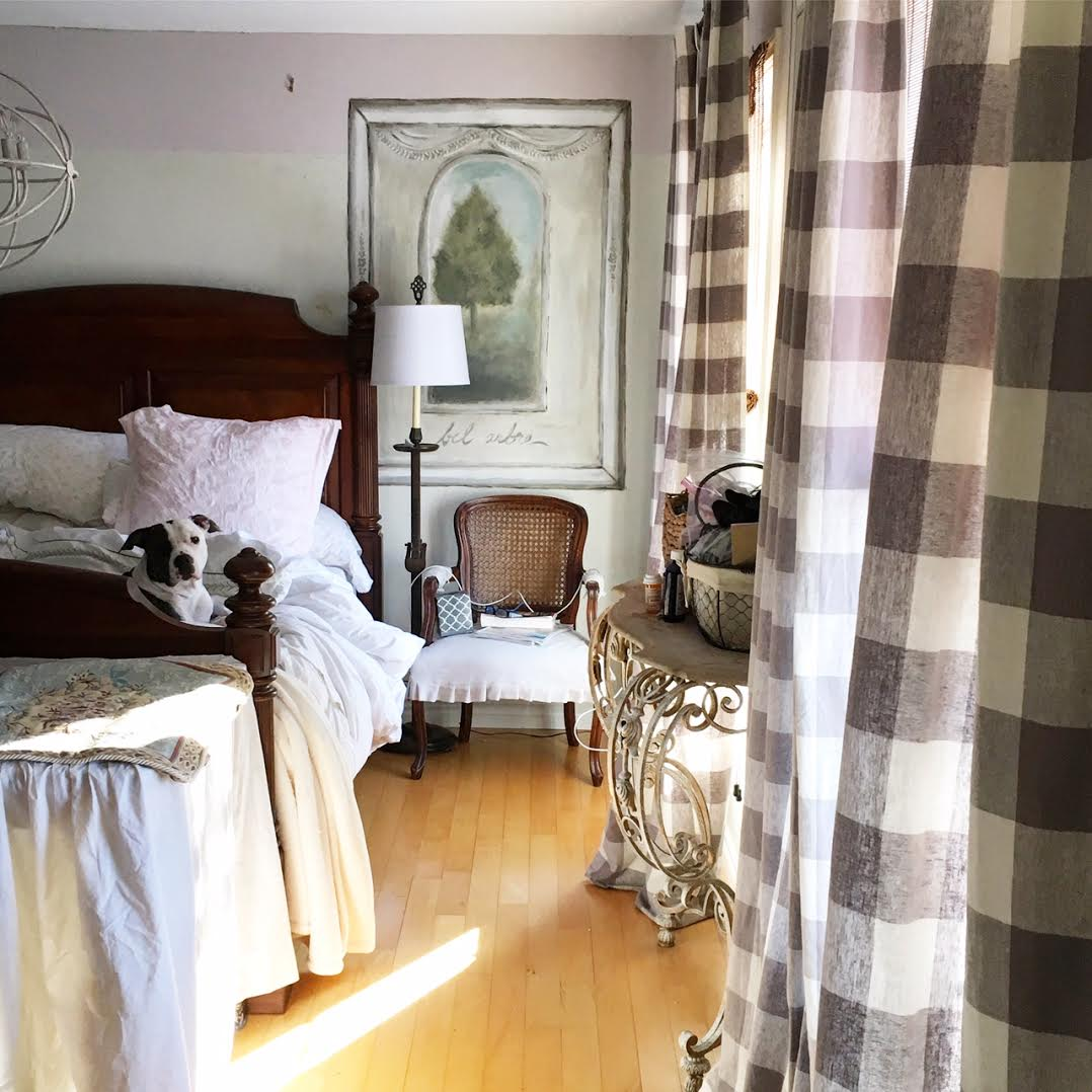 Great The master bedroom makeover from a Queen size bed to a King size bed started