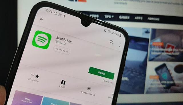 Spotify Lite Dirilis Untuk Android