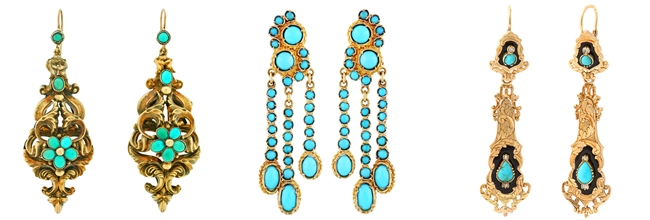 most beautiful earrings with turquoise stones