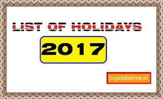 List of Holidays