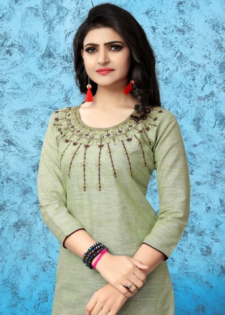 Watermelon kiters Casual wear Embroidered kurtis wholesaler