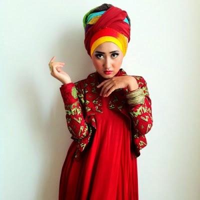 Gambar Desain Baju Muslim Dian Pelangi Terbaik 2015
