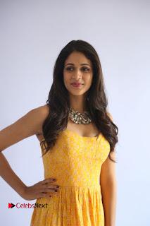 Actress Lavanya Tripathi Pictures in Yellow Dress at Srirastu Subhamastu Song Launch  0039.JPG