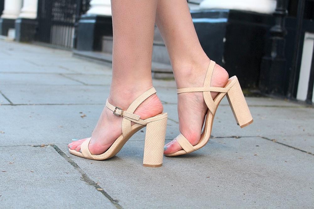 dune nude sandals