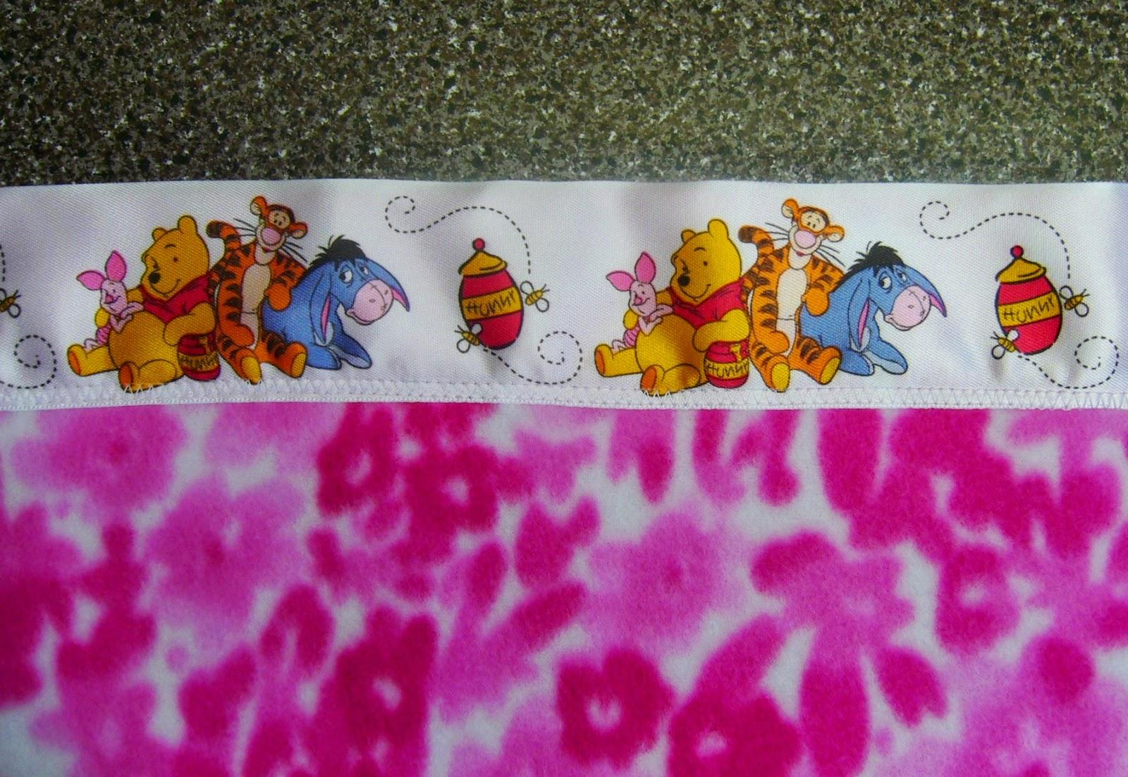 Winnie the Pooh satin blanket binding.