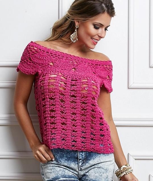 ❤ ✿ Mi Rincón del Tejido ✿ ❤: Hermosa blusa con punto espuma de ...