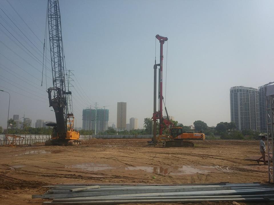 tiến độ xây dựng roman plaza