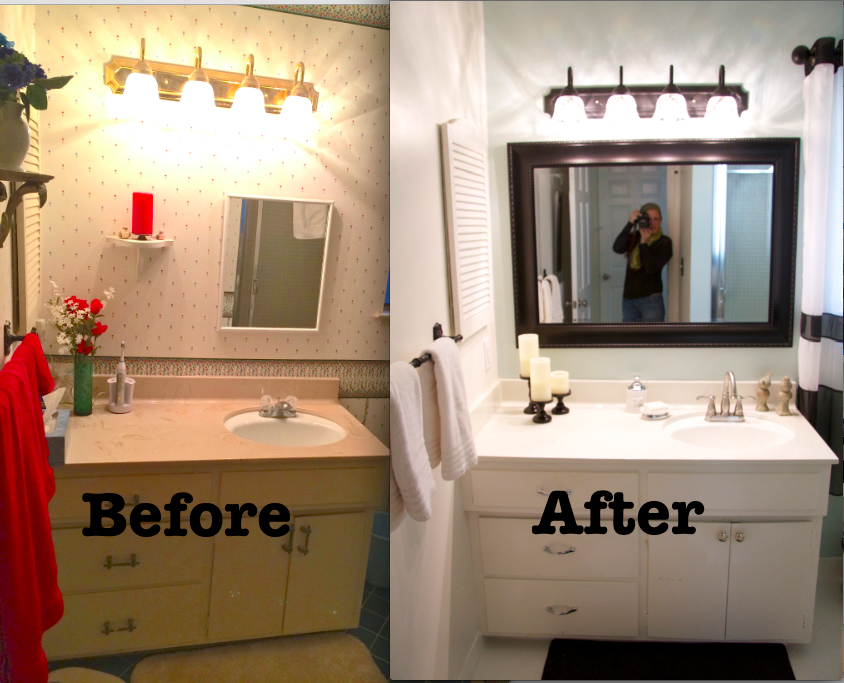 that i had a bathroom that needed big changes and a small budget