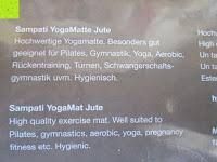 Information: Jute-Yogamatte »Sampati Jute« / High Quality Matte aus hochwertigen Jutefasern und ECO-PVC. Atmungsaktiv, schadstofffrei und sehr robust. Ideal für häufige Yogaübungen. Maße: 183 x 61 x 0,5cm, in verschiedenen Farben erhältlich
