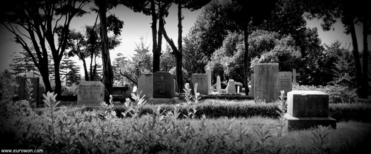 Cementerio de misioneros extranjeros en el barrio Hongdae de Seúl
