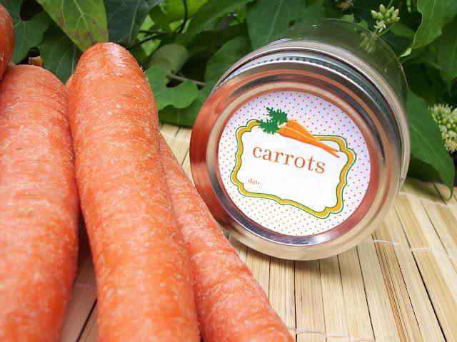 Carrots mason jar sticker