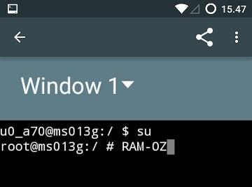 Cara Melegakan Ram Android Dengan Tweak RAM-OZ