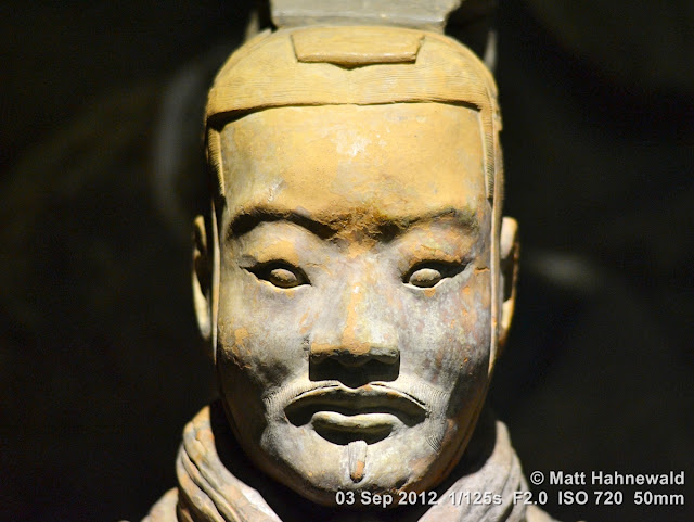 portrait, headshot, China, Xian, terracotta army, terracotta soldier, clay warrior, sculpture