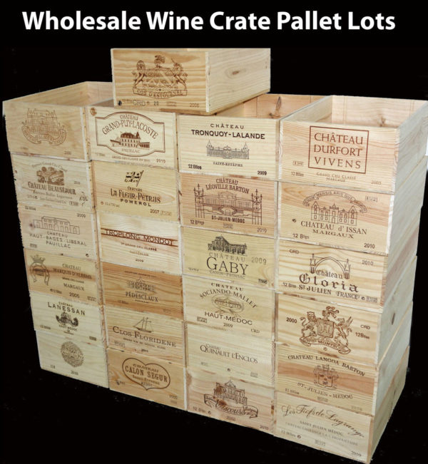 Wine crates and boxes wholesale wine crates by the pallet for Where to buy used wine crates