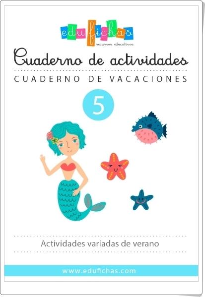 Cuaderno de vacaciones de verano 5 para Educación Infantil (Matemáticas)