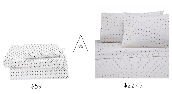 Look for Less Crate & Kids organic dot sheets