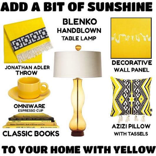 Add A Bit Of Sunshine To Your Home With Yellow