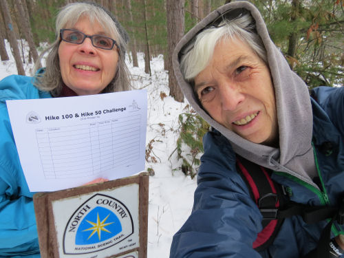 hikers doing 100 Mile Challenge on the North Country Trail