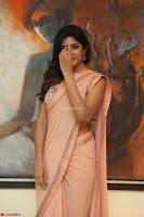 Eesha Rebba in beautiful peach saree at Darshakudu pre release ~  Exclusive Celebrities Galleries 056.JPG