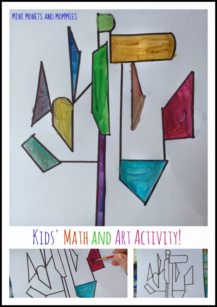 Mini Monets And Mommies Mondrian Makes Kids 39 Math