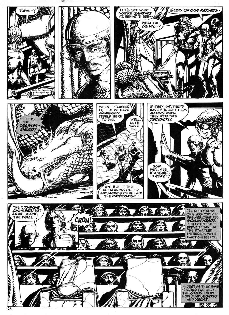 Savage Tales v1 #3 conan marvel comic book page art by Barry Windsor Smith