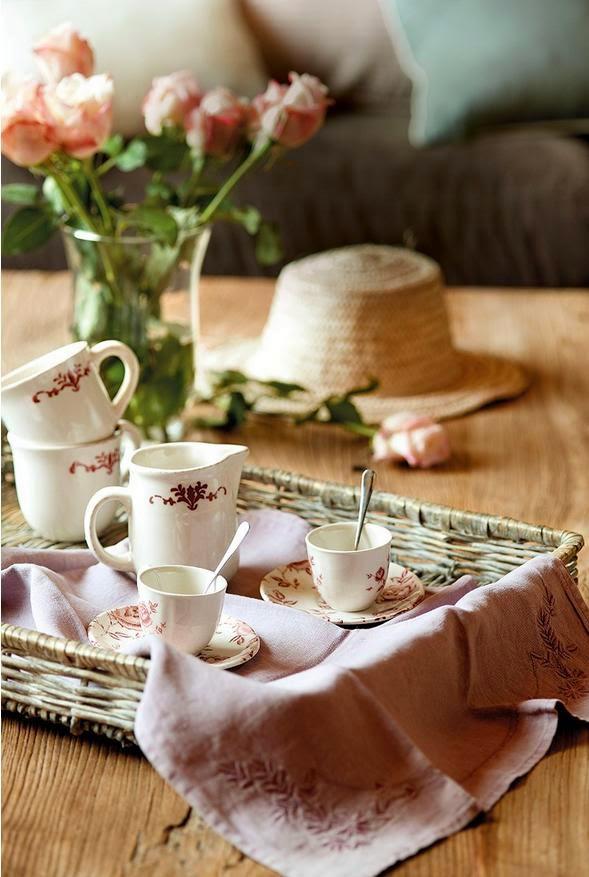 Juegos de té en la decoración