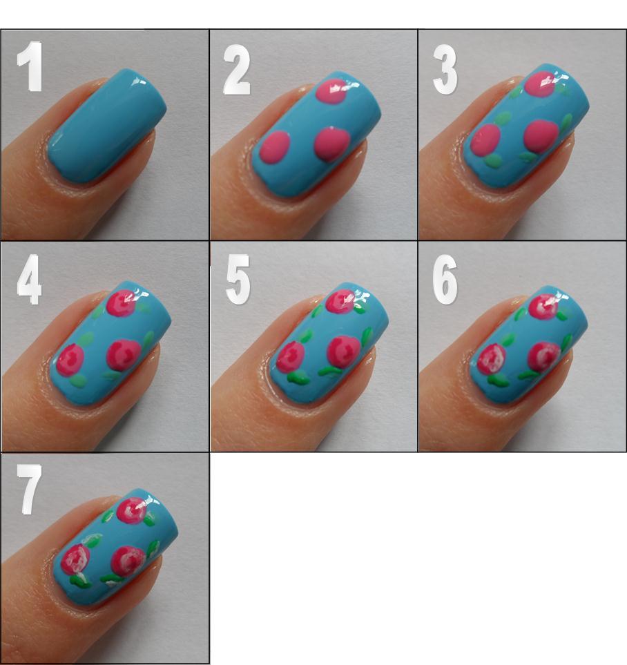 Nail Art Tutorials: Polished Art: Rose Nail Art Tutorial