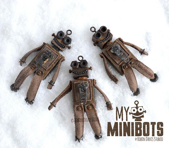Tiny vintage style robots - Robin Davis Studio