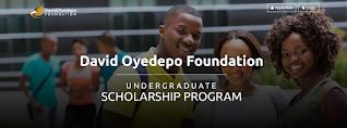 David Oyedepo Foundation Undergraduate Scholarship 2020/2021