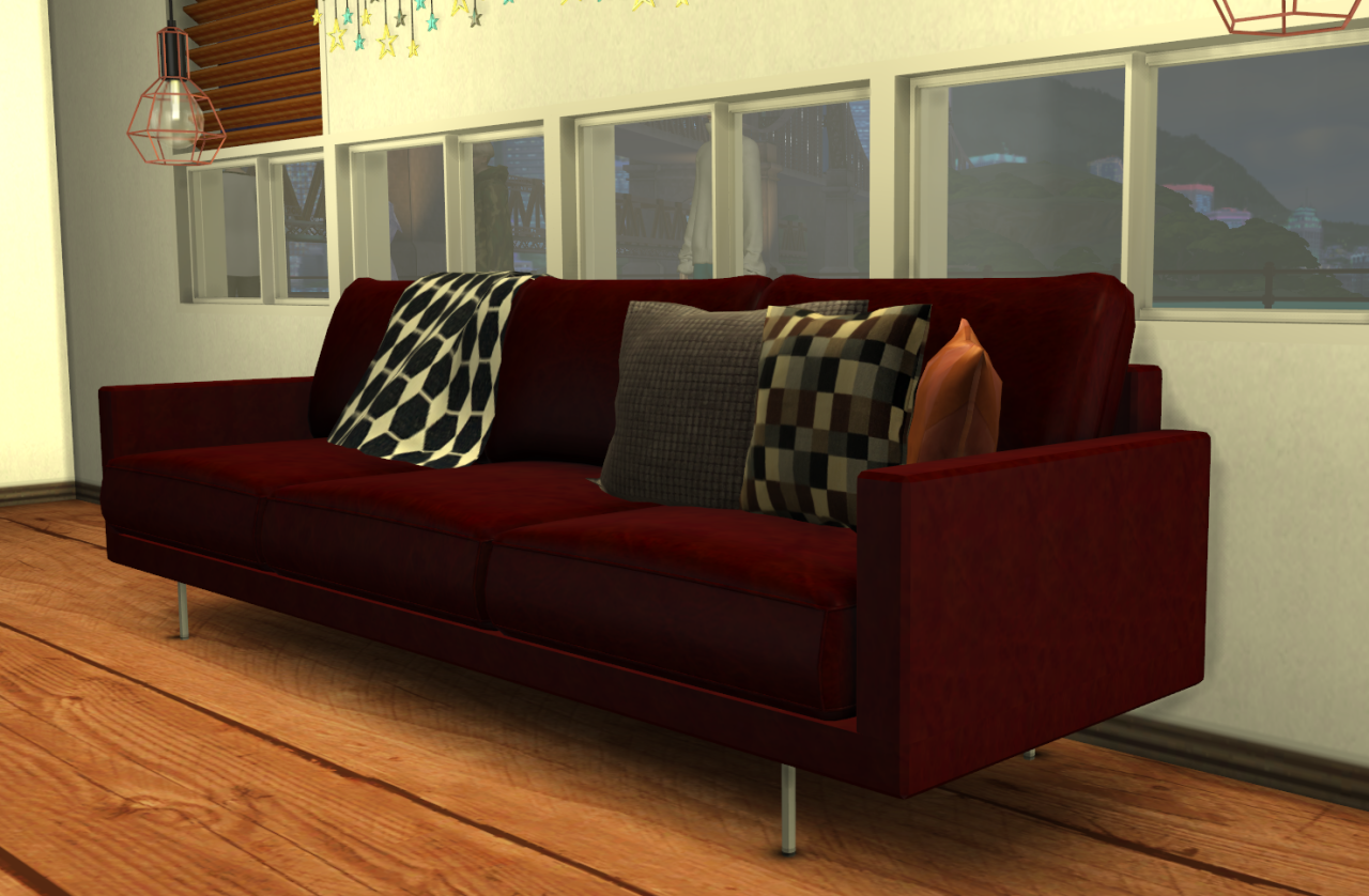 My Sims 4 Blog Sofa Blanket And Pillows By Minc78