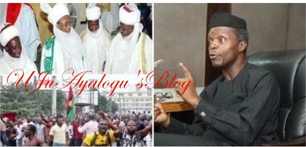 BREAKING: Osinbajo takes crucial action over quit notice issued Igbos in northern region