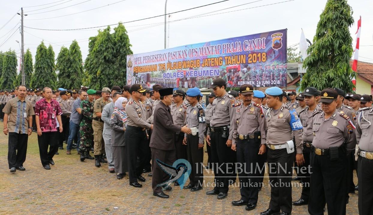 Amankan Pilgub Jateng, Polres Kebumen Terjunkan 500 Personel