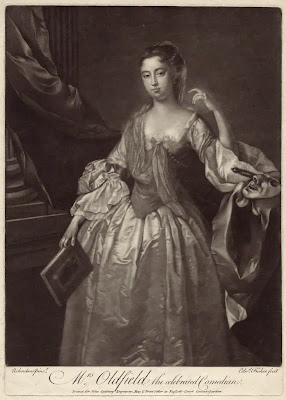 Anne Oldfield by John Simon, after Jonathan Richardson mezzotint, circa 1700-1725