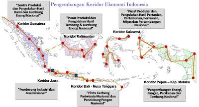 Penyebaran Sentra Pertumbuhan Di Indonesa