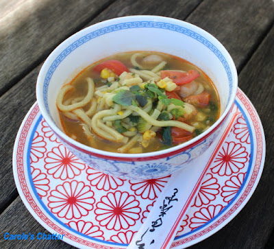 Carole's Chatter: Prawn Noodle 'Soup' - cross between soup and noodle dish