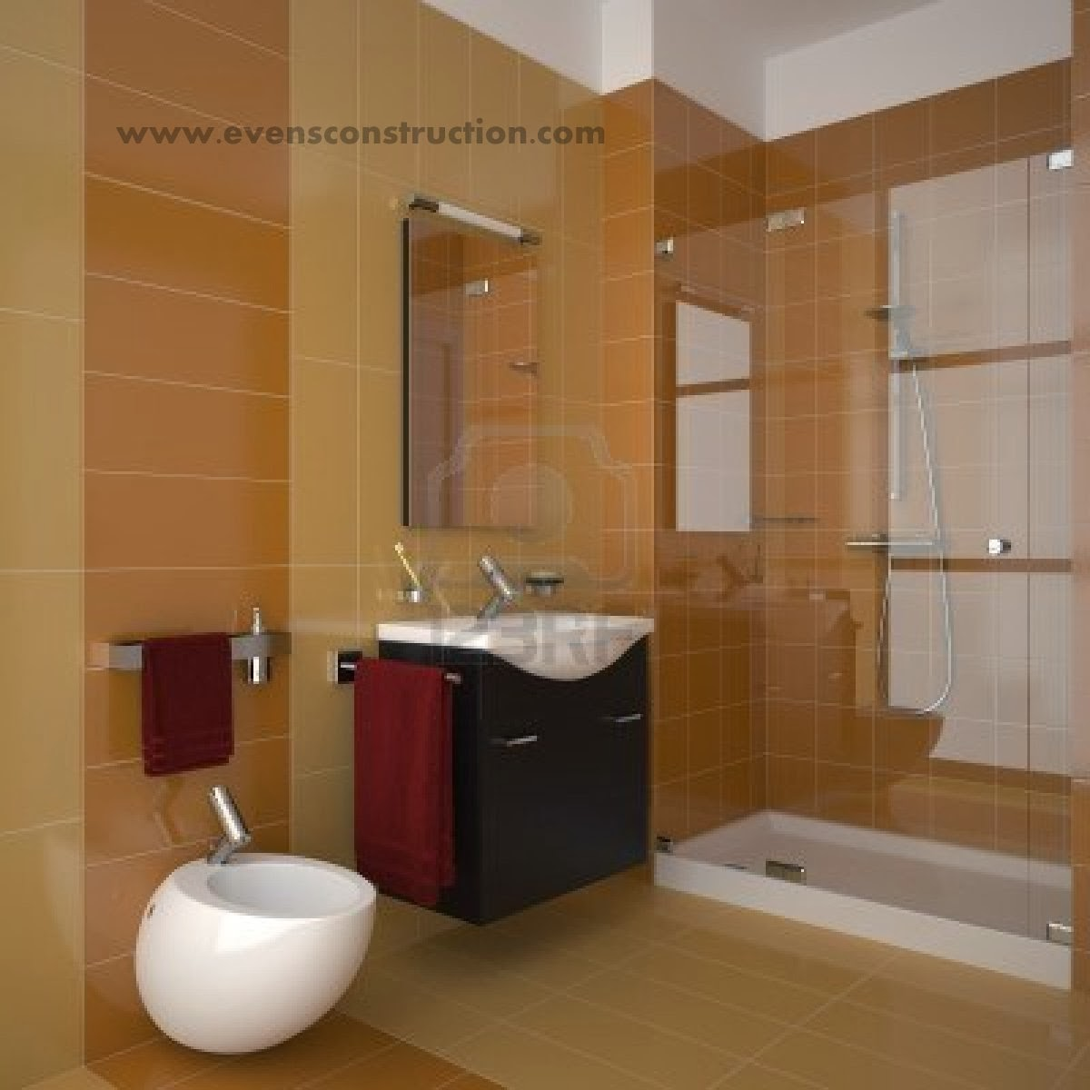 Traditional Contemporary Bathrooms Ltd: Evens Construction Pvt Ltd: Bathroom Tiles : Gallery