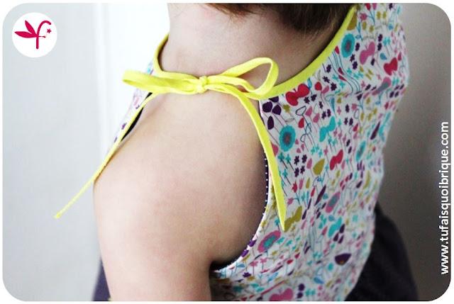 Mini Marthe sans manches - détail bretelle