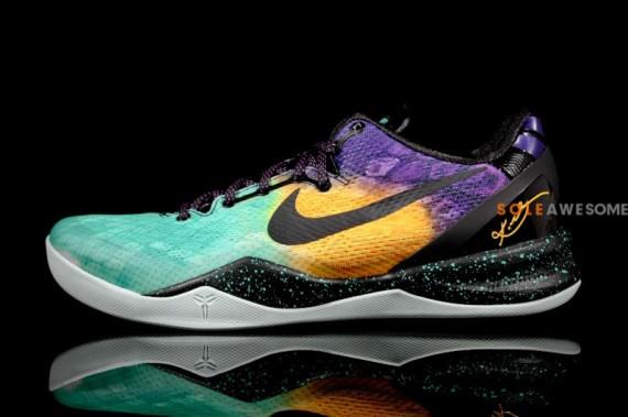 96ad202261c Nike Kobe 8. 587551-302. Green Yellow Purple