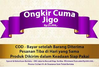 Ongkir Cuma Jigo-COD-Tiba di Hari yang Sama-Produk Dikirim Siap Pakai: Jakarta