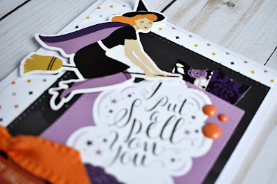 """I put a spell on you"" Halloween card by Wendy Sue Anderson featuring the ""Bewitched"" collection from Echo Park Paper"