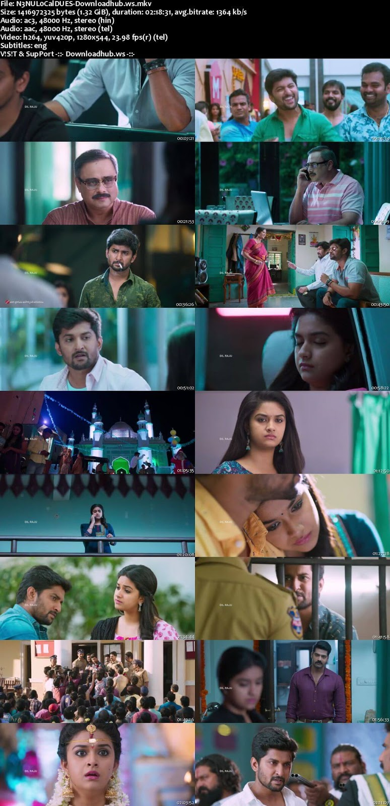 Nenu Local 2017 UNCUT Hindi Dual Audio 720p HDRip Download
