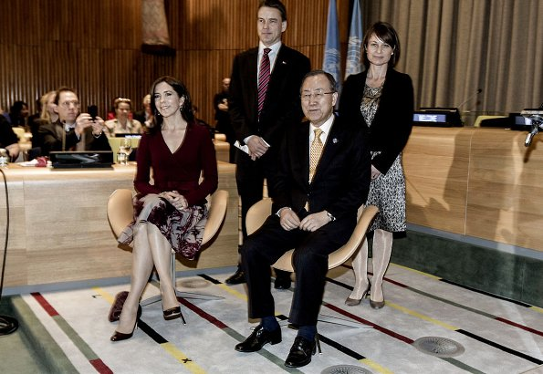 Crown Princess Mary attended inauguration of the Trusteeship Council Chamber at the Untied Nations in New York
