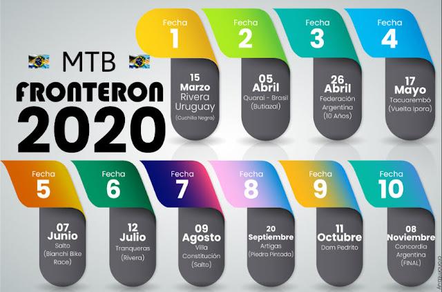 MTB - Campeonato 2020 Fronterón constará de 10 fechas