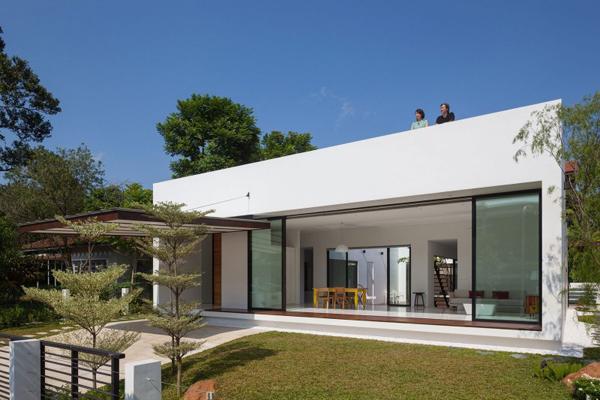 Casa moderna de un nivel dise o de casas home house design for Casa moderna numero 2