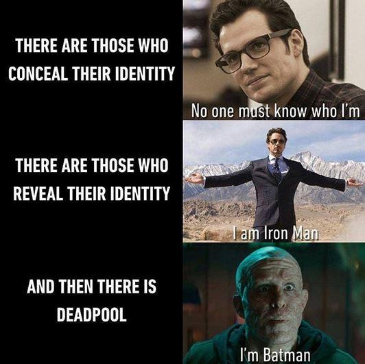 esconder revelar e deadpool jeito ser heroi