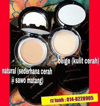 tati skincare glow white foundation cerah gebu murah original