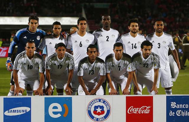 Formación de Egipto ante Chile, amistoso disputado el 30 de mayo de 2014